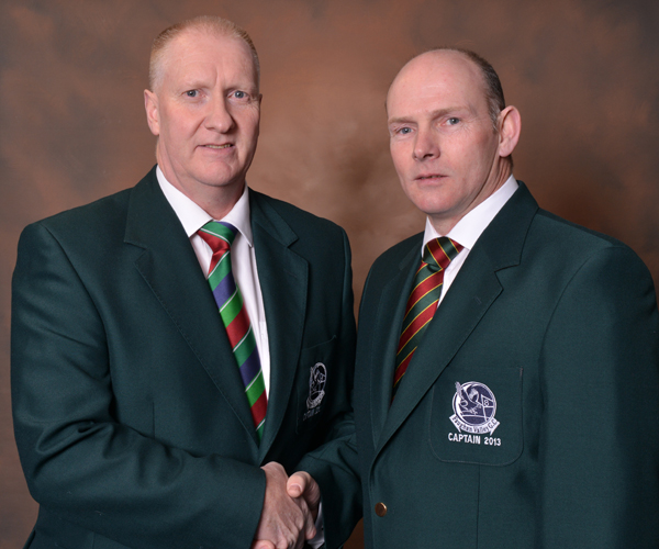 2012 Captain, Mr Cecil King handing over to 2013 Captain, Mr Terry Dornan.